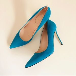 SJP by Sarah Jessica Parker Shoes - SJP Fawn 10mm Pointed Toe heels,Turquoise,size 8.5